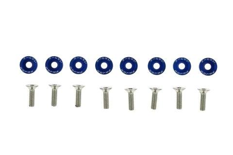 Śrubki z podkładkami uniwersalne JDM 6mm blue - GRUBYGARAGE - Sklep Tuningowy